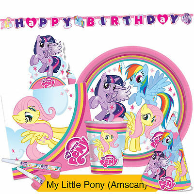 MY LITTLE PONY RAINBOW Party Range {Amscan} (Birthday/Banner/Balloons/Napkins)