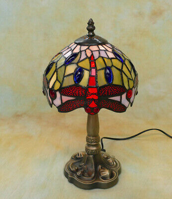 Tiffany Tischlampe Dragonfly Libelle Tiffanylampe Lampe TE15-a