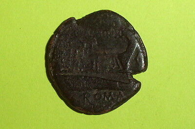 LARGE Ancient ROMAN REPUBLIC COIN prow C. NUMITORIUS 133 BC boat ship galley old