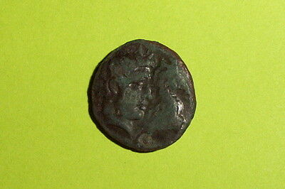 RARE Ancient GREEK COIN jugate heads horse THESSALY GYRTON 400 BC old goddess VG