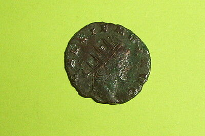 RARE Ancient ROMAN COIN pax GALLIENUS 253-268 AD caduceus olive branch old money