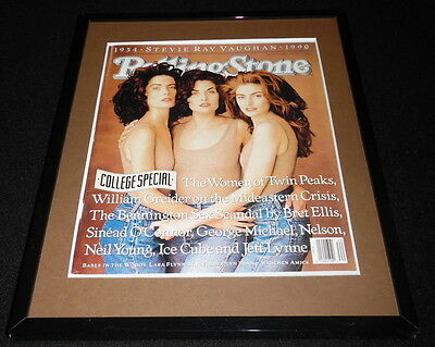 Women of Twin Peaks Framed October 4 1990 Rolling Stone Cover Display