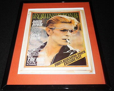 David Bowie Framed February 12 1976 Rolling Stone Cover Display