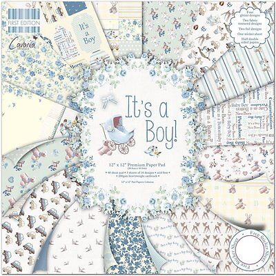 Dovecraft  12x12 First Edition Paper Pack  - It's A Boy - Free UK p&p
