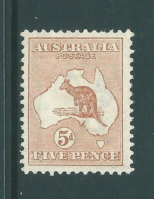 A Vintage Roo stamp from AUSTRALIA - SG8 Mint 5d