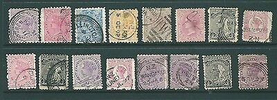 A collection of stamps from NEW ZEALAND - Queen Victoria unchecked