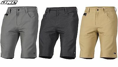 ONE INDUSTRIES MENS TECH CASUAL SHORTS mx motocross bike BLACK GREY KHAKI