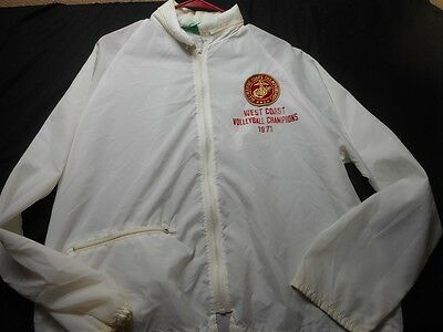 Marine Corps Volleyball 1971 Vintage White / Cream large (NO SIZE) Men's Jacket