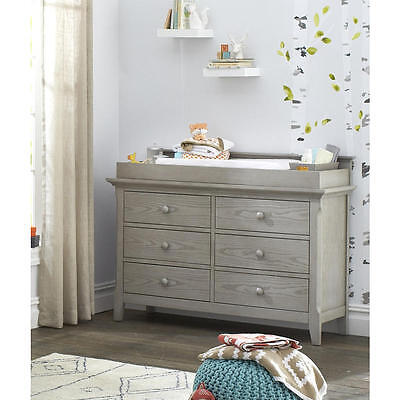 Baby Cache Overland Changing Table Topper - Ash Gray