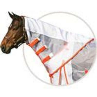 NEW Ripstop Nylon Mesh FLY NECK COVER  Dura-Tech® HORSE size LARGE White/ORANGE