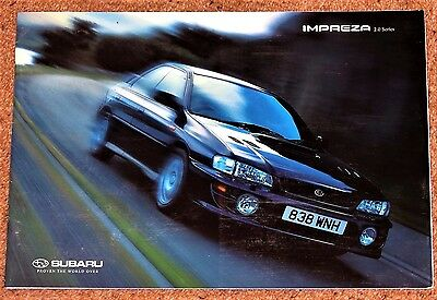 1998-99 SUBARU IMPREZA Sales Brochure -Turbo 2000, 2.0 Sport & GL, Saloon Estate