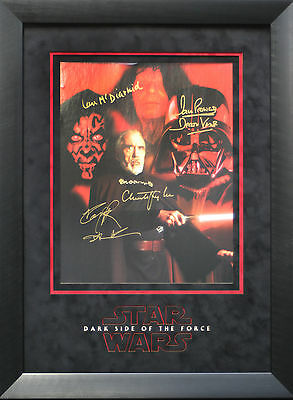 Star Wars signed amazing 3D Framed Photo Display