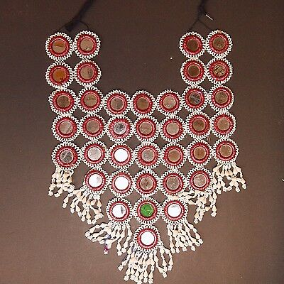 Belly Dance ATS Tribal Beaded NECKLACE Kuchi Afghani 805w3