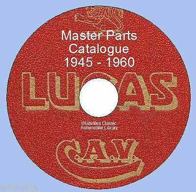 Lucas Master Parts Information 1945 -1960  + maintainance DVD ROM