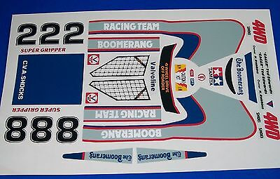 The Boomerang Custom Tamiya Hpi  Decals Stickers  Precut Vintage