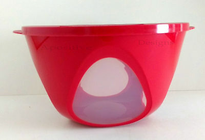 Tupperware Red Outdoor Dining Serving Storage Salad Bowl New