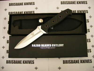 Razor Blades Stalker G10 440C Stainless Hunting Skinning Camping Knife. Bowie