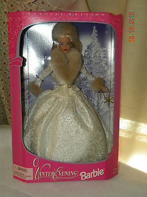 Winter Evening Barbie Doll, 19218, Made 1998, MIB Special Edition