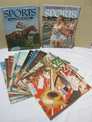 1954 & 1955 Sports Illustrated Lot of 14 Magazines 1950's  T*
