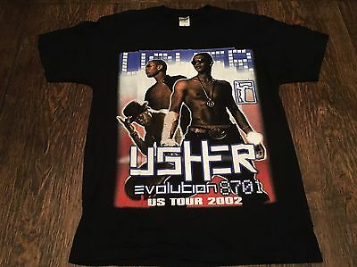 vintage USHER mens L large Evolution US Tour shirt NAS Faith Hill hip hop rap ~~