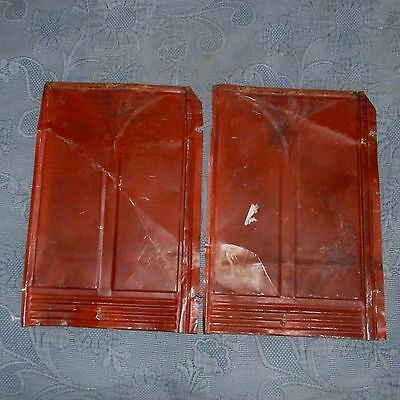 2 Salvaged Antique Gothic Victorian Tin Roof or Ceiling Panels, 9.5 by 14 Iches