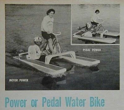 Pontoon Paddle Wheel Bike Boat HowTo build PLANS pedal or outboard