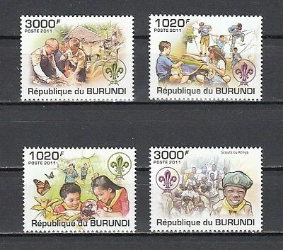 Burundi, 2011 issue. Scouts of Kenya & Other countries.