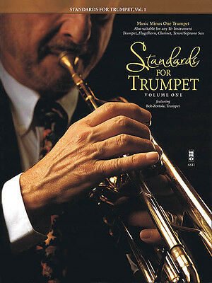 Standards for Trumpet Vol 1 Jazz Sheet Music Minus One Play-Along Book CD NEW
