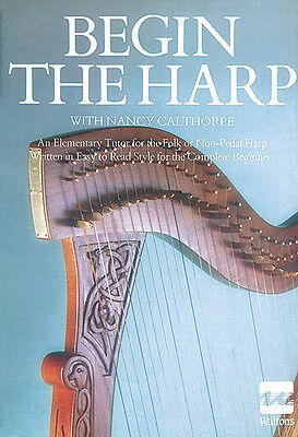 Begin the Harp Learn How to Play Beginner Lessons Waltons Irish Music Book NEW