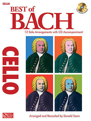 Best of Bach for Cello Solo Classical Sheet Music Play-Along Book CD Pack NEW