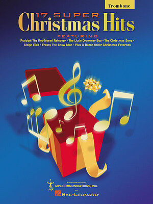 17 Super Christmas Hits for Trombone Solo Intermediate Sheet Music Book NEW
