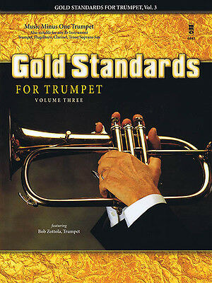 Gold Standards for Trumpet Vol 3 Sheet Music Minus One Play-Along Book CD NEW