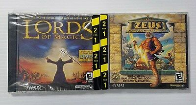 Lords of Magic Special Edition Zeus Master of Olympus 2-pack PC Brand New Sealed
