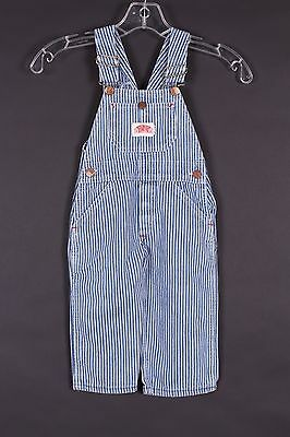 Vtg Round House Hickory Stripe Overalls Bibs Kids Youth