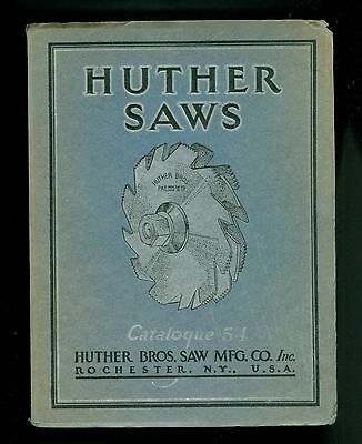 1934  Pretty Catalog Huther Rotary Saw Blades Rochester NY