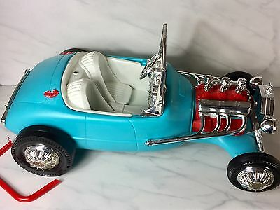 Vintage Barbie Ken Blue Roadster Hot Rod Sports Car Austin Healy Irwin Mattel