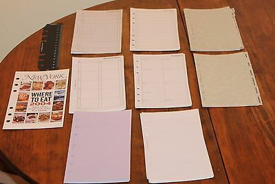 Vintage Filofax Refill Pages:Ruler 133609,Expenses,Don't Forget,Planner,Tabs