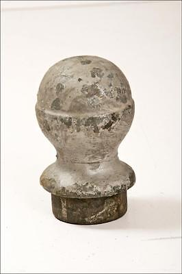 Vintage CAST IRON FINIAL top round corbel fence post metal architectural salvage • CAD $27.59
