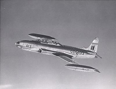 1950s MR Canada RCAF T-33 Trainer in Flight 8x10 Photo