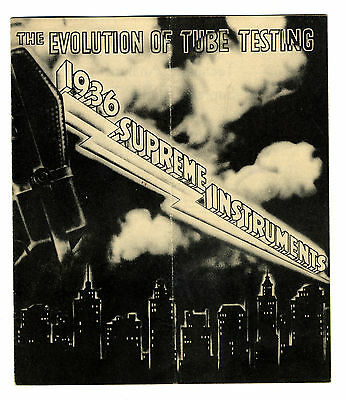 Supreme Instruments 1936  The Evolution Of Tube Testing