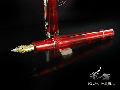 Marlen Riflessi Fountain Pen, Chrome trim, Red, M12-146-RE , M