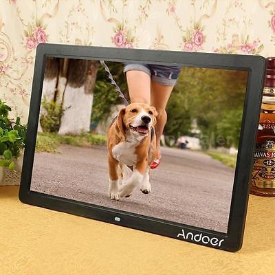 """17"""" Inch LED Wide Screen Digital Picture Photo Frame USB Port w/ Remote Control"""