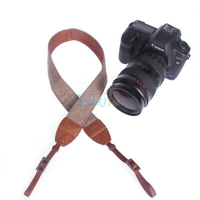 Cotton Camera Shoulder Neck Vintage Strap Belt for  Canon Digital DSLR