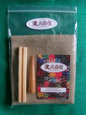 Rag rug making starter kit with instructions- ideal gift