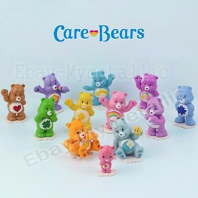 12pcs Set Care Bears Multi-colored Bear 3cm-4cm PVC Figure Loose