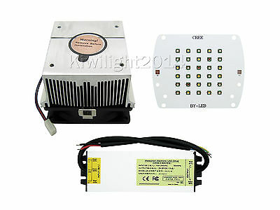 100W Coral Light Cree Chip Red Green Blue Warm White LED Driver Heatsink Fan