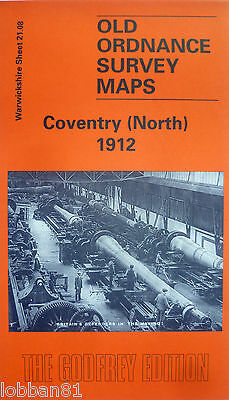 Old Ordnance Survey Maps Coventry (North) Warwickshire 1912  S21.08 New Map