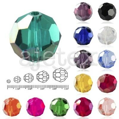 DIY Wholesale 50-150pcs Crystal Round Beads Facted Jewelry 3mm 6mm 8mm 10mm 12mm