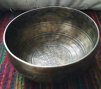 Tibet Klangschale (Singing Bowl,Hand carved,Tibetan Art works)