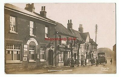 Berks Pangbourne Village with Post Office 1917 Real Photo Vintage Postcard 16.11